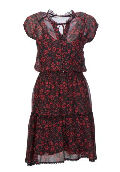 Frogbox Damen Viskose Kleid Red Leo  895-895727
