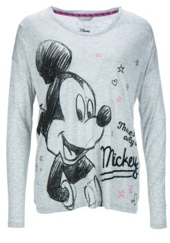 Frogbox Damen longshirt Mickey hot fix stone