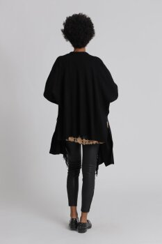 Frogbox Damen Knit poncho with fringes