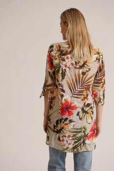 Palm leaves long blouse