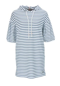 Dress with Hoody and Stripes 878-879506